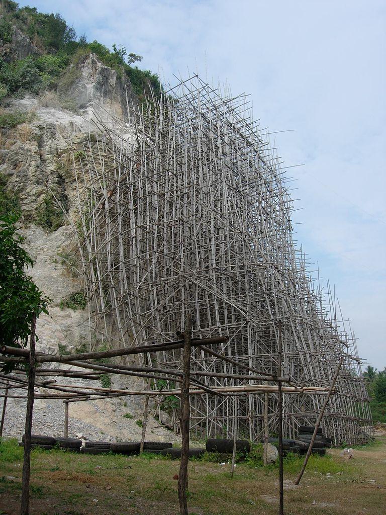 Bamboo Scaffolding Cambodia Bamboo Pinterest Gerust Hochbau