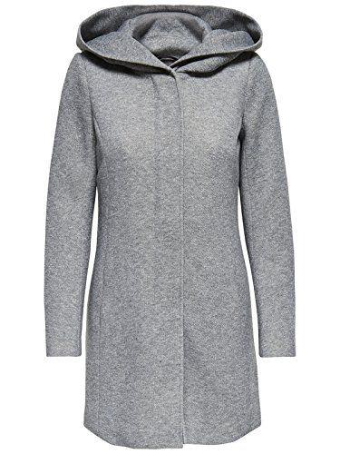 15142911 ONLY 36 Taille Grey Gris Light Femme Melange Manteau gqdxqS