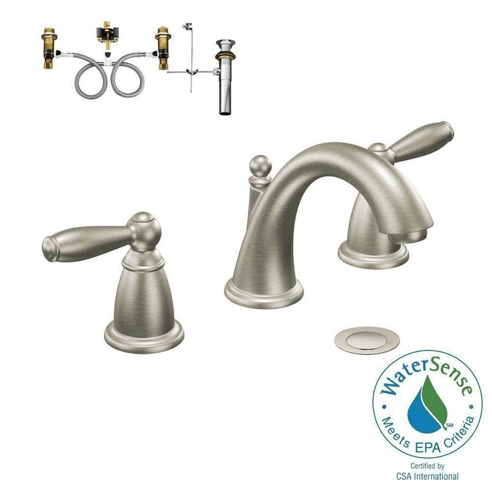 Moen Brantford 8 In Widespread 2 Handle Bathroom Faucet Trim Kit