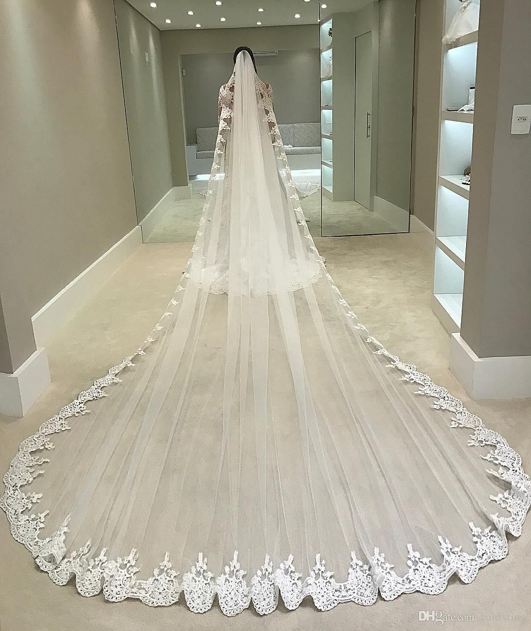 I Want An Extremely Long Veil Wedding Veils Lace Long Veil Wedding Tulle Bridal Veil