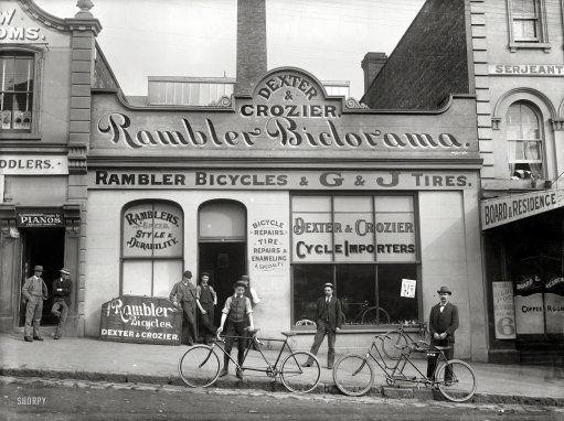 Rambler Biclorama Auckland New Zealand 1902 Dexter Crozier Cycle Importers Victoria Street East Bike Shop Shorpy Historical Photos New Zealand