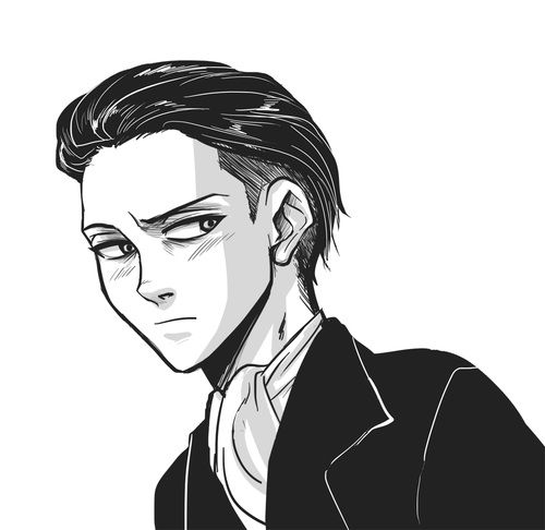 Levi With Hair Slicked Back Art By Drinkyourfuckingmilk At Tumblr Com Attack On Titan Levi Attack On Titan Titans