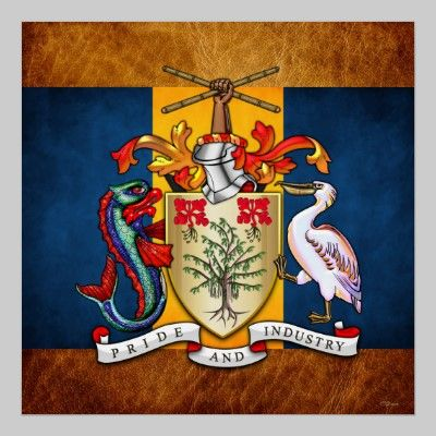 Barbados Coat Of Arms Poster Coat Of Arms Heraldry Design Arms