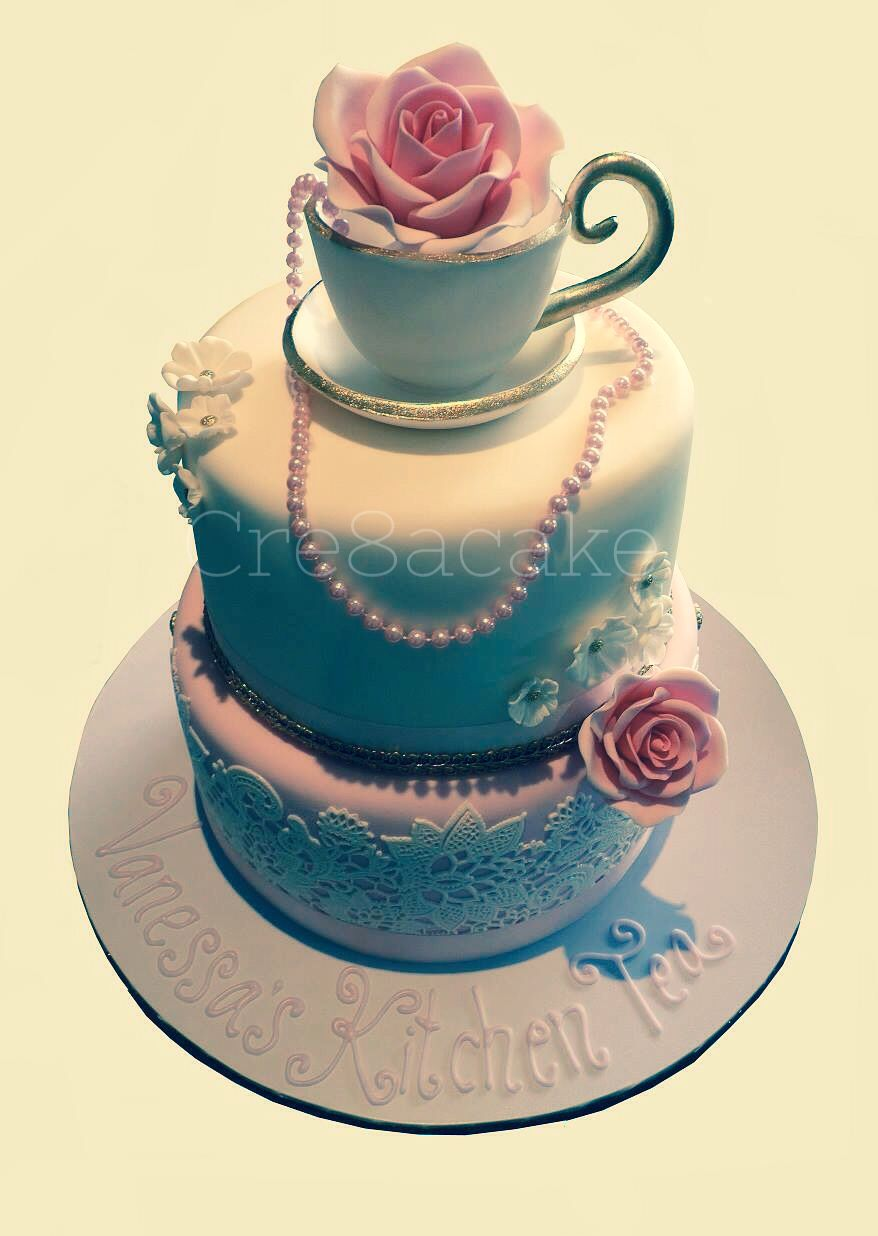 Kitchen Tea Cake Kitchen Tea Cake By Cre8acake My Cakes Pinterest Beautiful