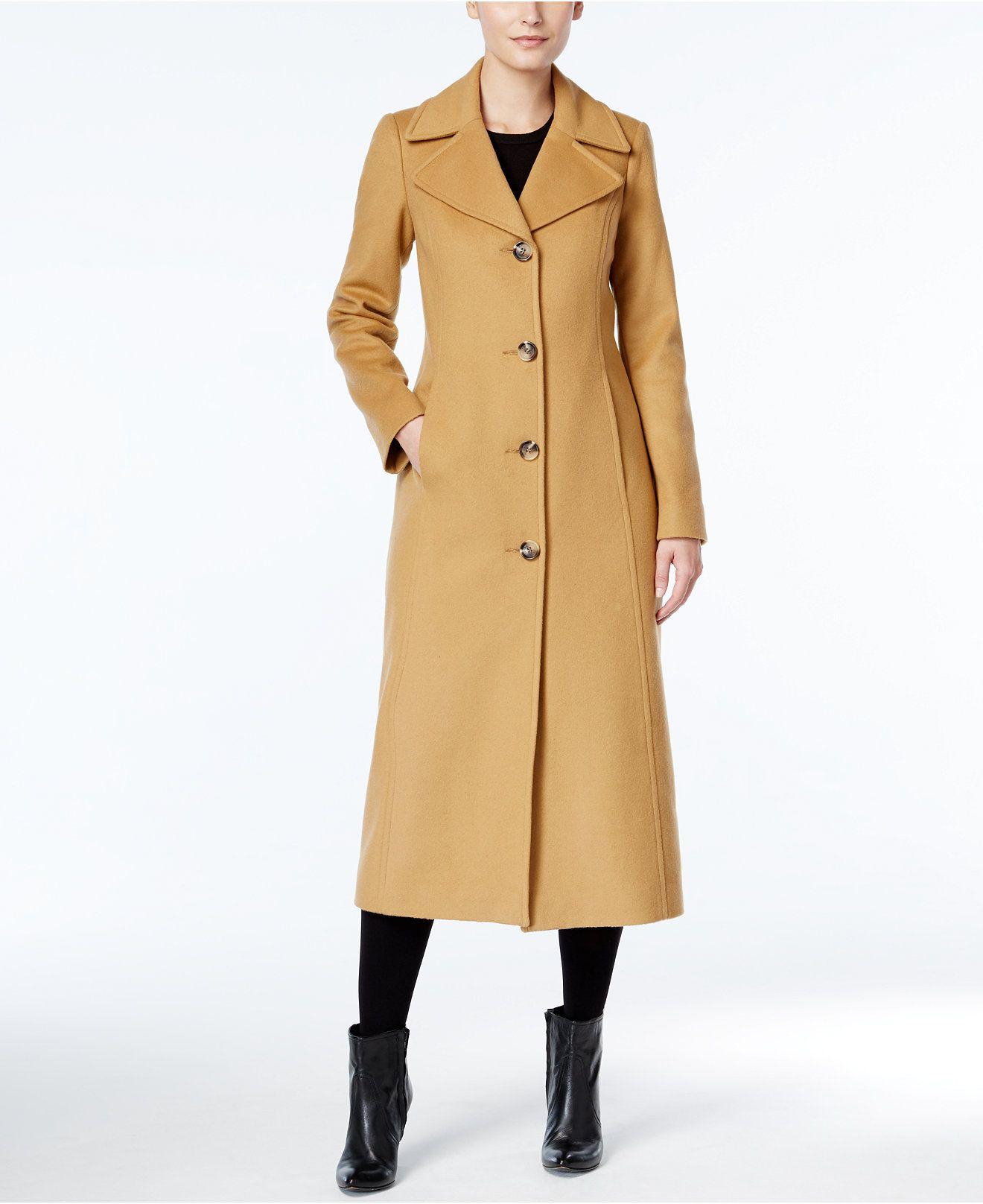 Anne Klein Petite Wool Cashmere Blend Maxi Walker Coat Coats Women Macy S Petite Coat Winter Fashion Coats Coat