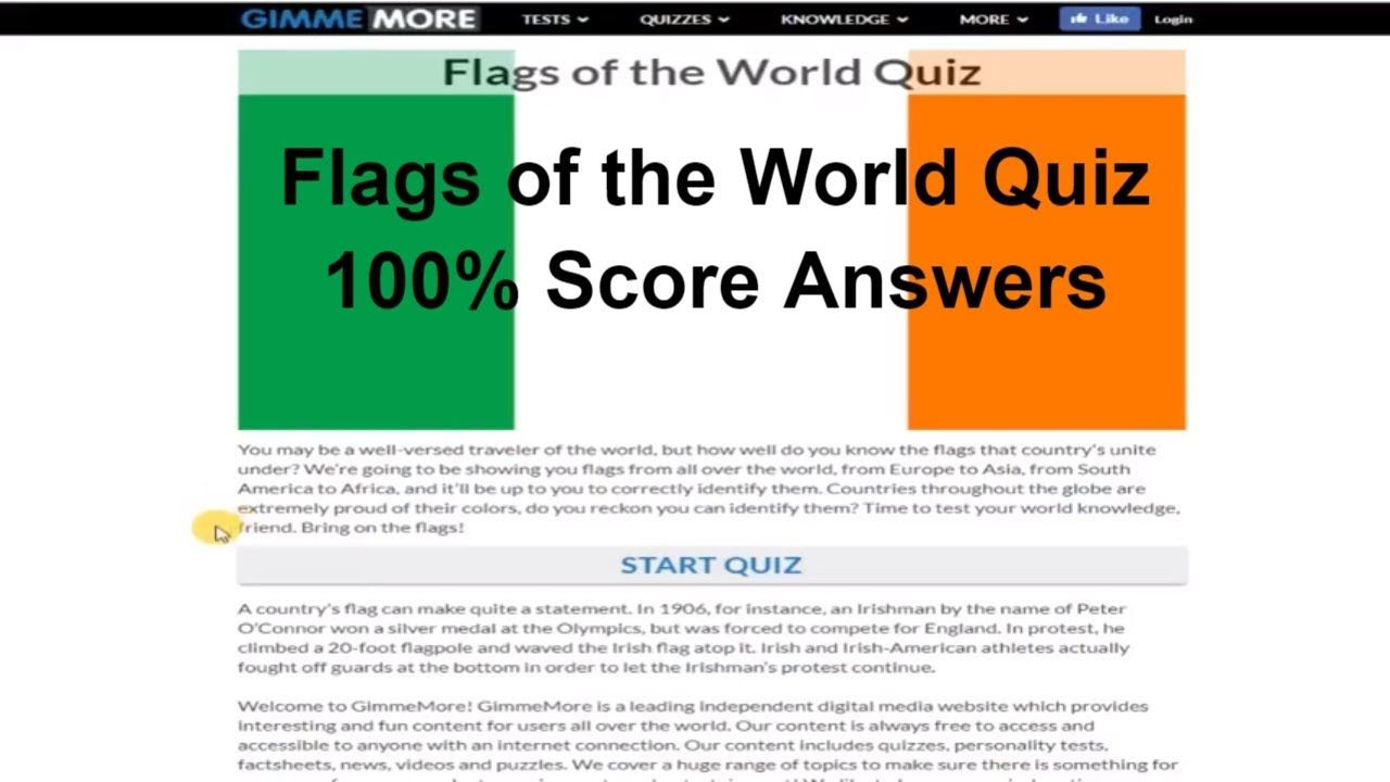 Flags of the World Quiz GIMME MORE 100% score answers
