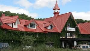 house with red corrugated roof scotland - Google Search