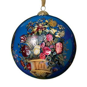 English Bouquet Blue Christmas Ornament Holiday Clearance Sale The Met Store Blue Christmas Ornaments Blue Christmas Christmas Ornaments