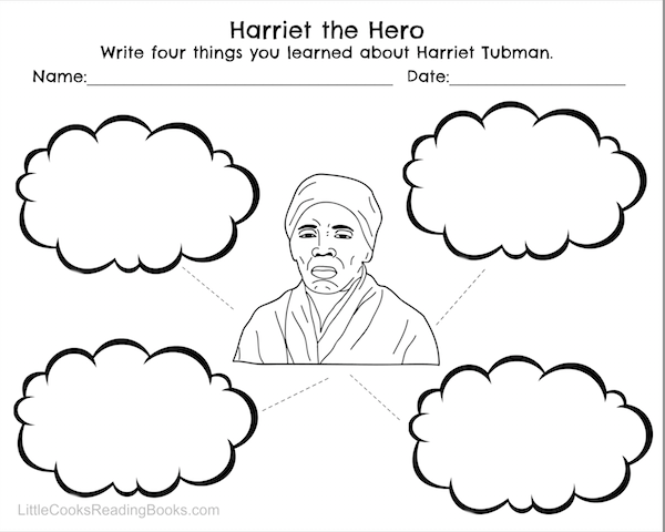 Harriet Tubman and Underground Railroad Free Printables #