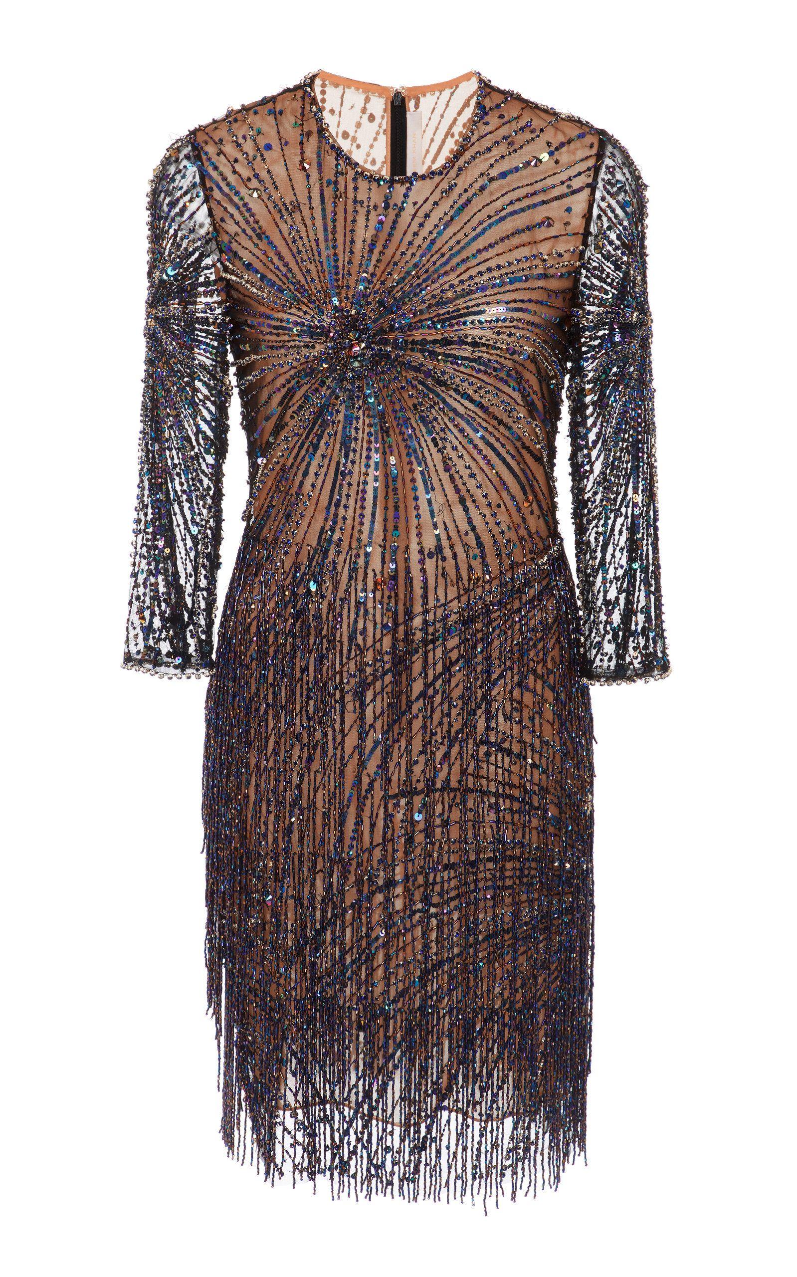 790924d418 Bead-Embellished Tulle Mini Dress by NAEEM KHAN Now Available on Moda  Operandi