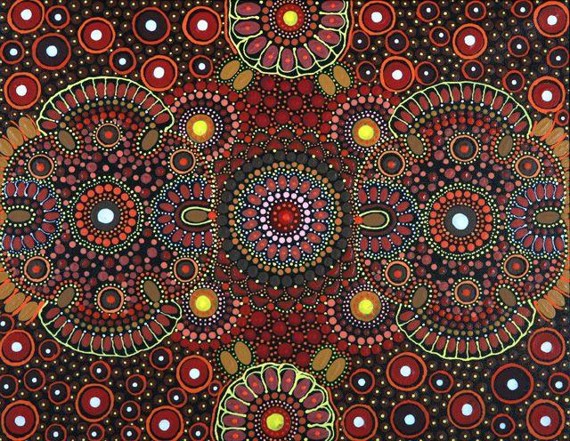 Aboriginal Design Wallpaper : Aboriginal art cosmic flower and artists