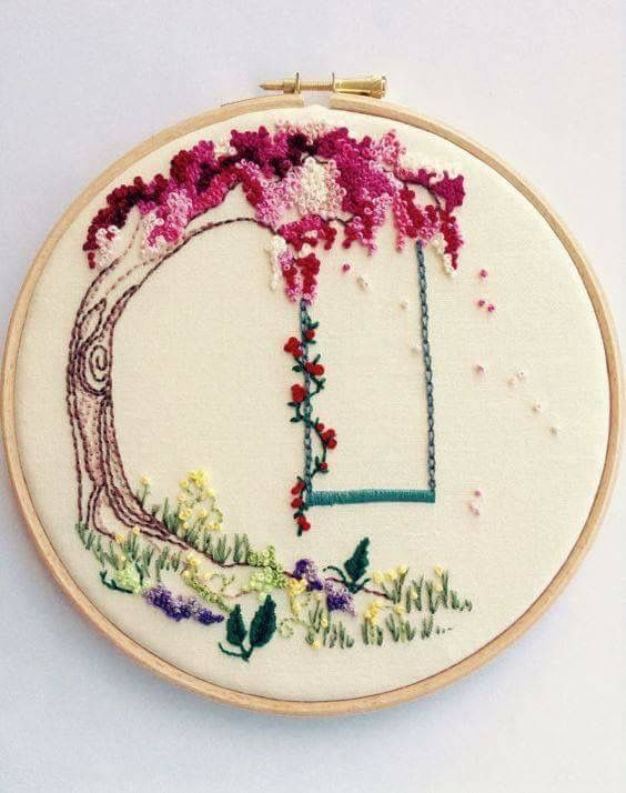 Pin de Emmanuelle Eucher en broderies   Pinterest   Bordado, Bordado ...