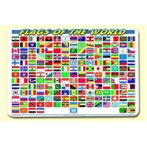Flags of The World Placemat (Set of 4) $35.96 by Wayfair