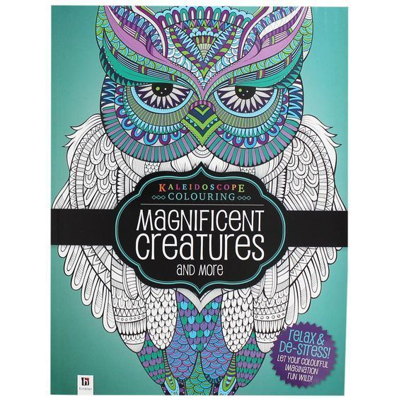 Relaxing Adult Mindfulness Colouring Books Magnificent Creatures Animals UK