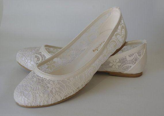 Handmade Lace Flat Wedding Shoes 1006 By Bosphorus On Etsy Rachel I Wonder If They Could Make You Something