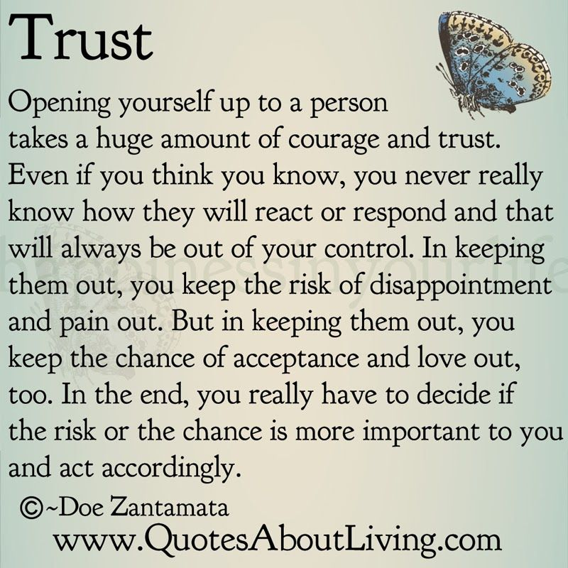 Quotes About Living - Doe Zantamata: Trust - Opening Up ...
