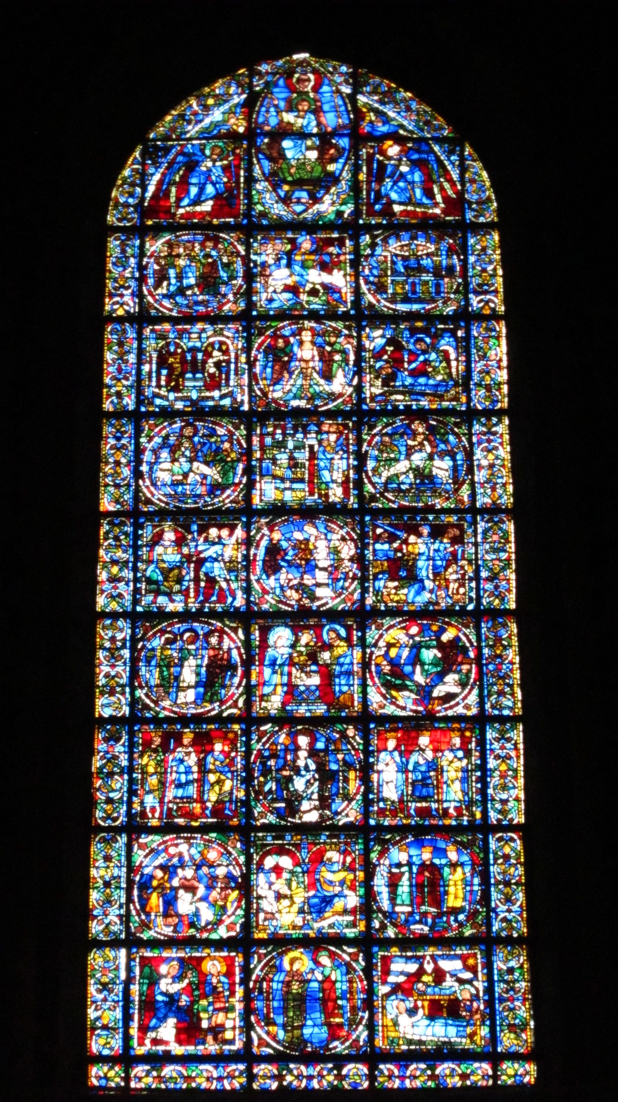 Chartres Cathedral Stained Glass Stained Glass Chartres Stained Glass Windows