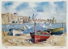 How To Paint Water Watercolor Boat Watercolor Paintings Easy