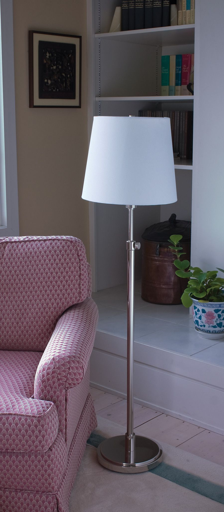 Polished Nickel Adjustable Floor Lamp