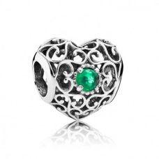 Pandora | May Signature Heart Birthstone Charm 791784NRG