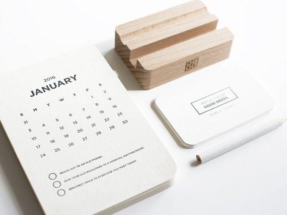 Desk calendar our signature desk calendar is designed to help you add good deeds in