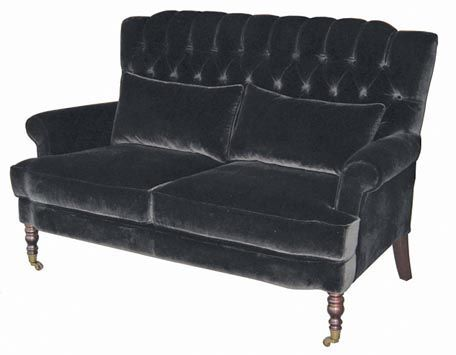 Best Black Velvet Tufted Sofa Furniture Vintage Style Sofas 400 x 300