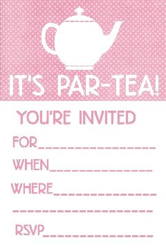 My daughter will definitely have a tea party or two Mother