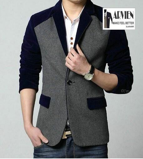 How To Buy Korean Blazer Men Online Jual Blazer Pria Santai Ln80