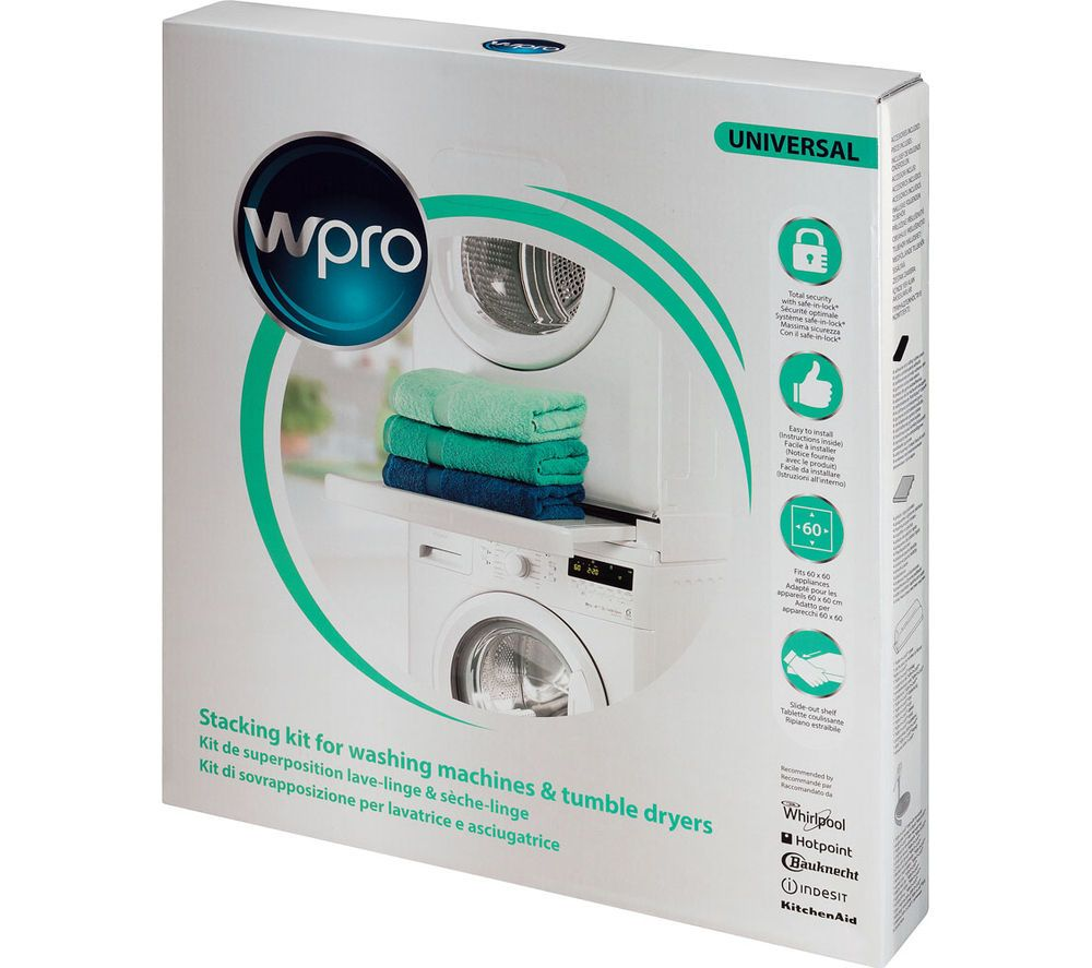 Wpro Sks101 Stacking Kit With Shelf In 2020 With Images Tumble Dryer Kitchen Large Appliances Tumble Dryers