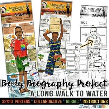 Photo of A Long Walk to Water, Body Biography Project Bundle, Great for Characterization