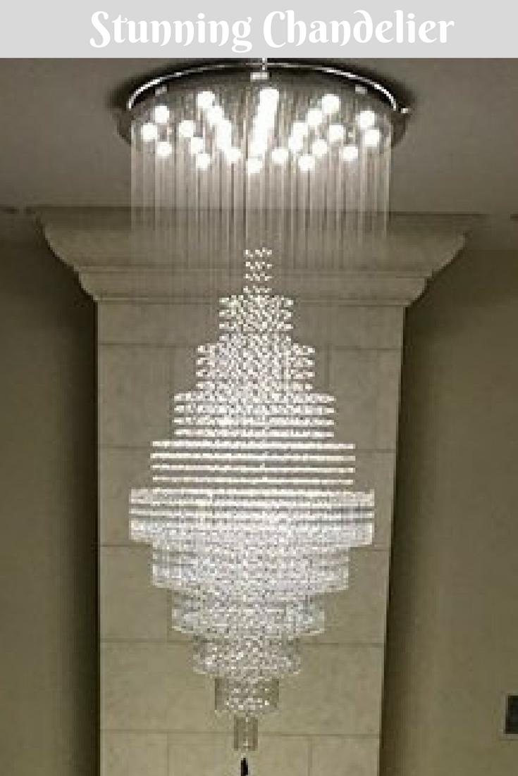 Mini Crystal Chandelier and Vanity Lights in Bathroom