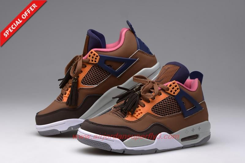 OrangeGrey 668452-107 AIR JORDAN 4 Louis Vuitton ...