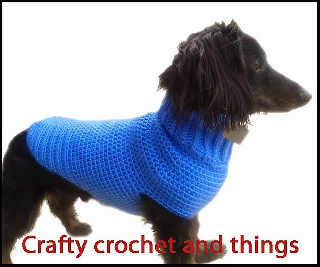 Crafty Crochet and Things: Crochet Dachshund Sweater- Guinness The ...
