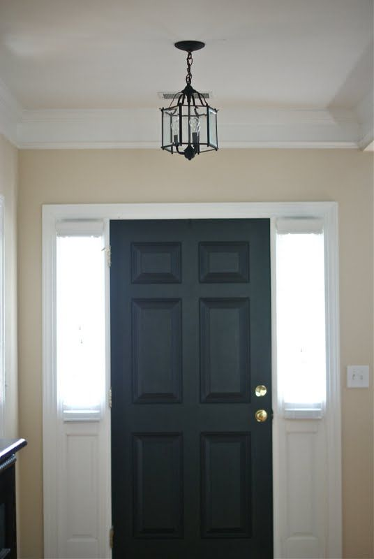 Hmmm Paint Inside Of Front Door Black I D The Panels