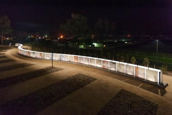 Vietnam Veterans Commemorative Service Wall Seymour Australia Sinatra Murphy Aql Landscape Design Landscape Design Vietnam Veterans Architects Melbourne