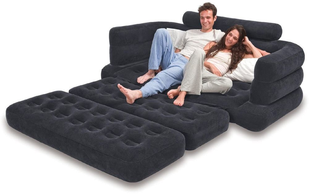 Inflatable Sofa Sleeper Couch Chair Mattress Bed Pull Out
