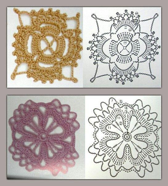 patron cuadrados | tejidos | Pinterest | Patrones y Tejido