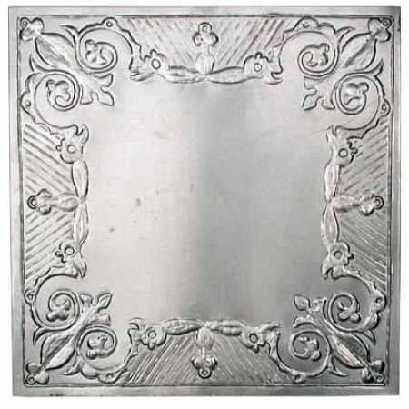 Package Of 6 12 X 12 Vintage Look Reproduction Galvanized Metal Embossed Tin Gothic Scro Decorative Ceiling Tile Galvanized Decor Decorative Tile