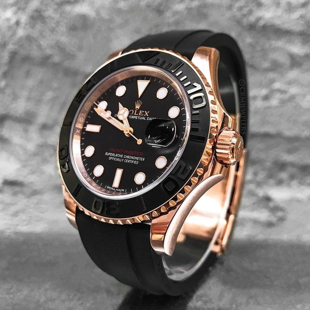 Rolex New Yacht Master 40mm Rose Gold Mens Watch 126655 Selling Price 售價 Hk 183 500 Rolexforum Rolexaholics Ro En 2020 Accesorios Para Hombre Reloj Reloj Suizo