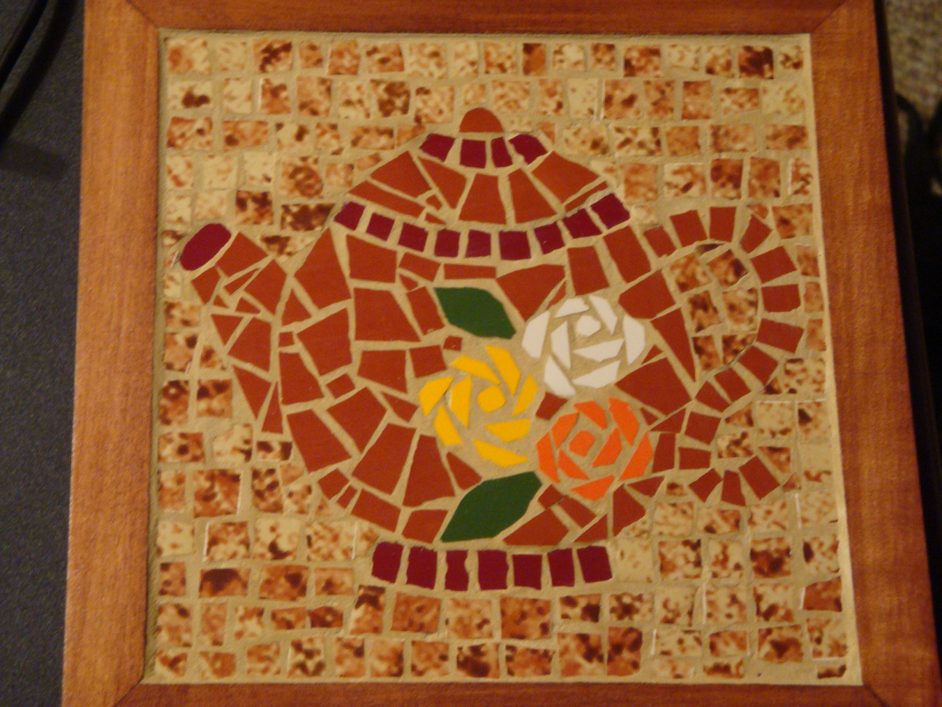 Caja para te mis mosaicos pinterest - Mosaico de madera ...