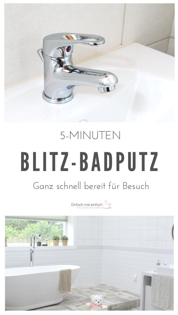 5 Minuten Blitz Badputz Badezimmer Putzen Tipps Badezimmer Putzen Haushalt