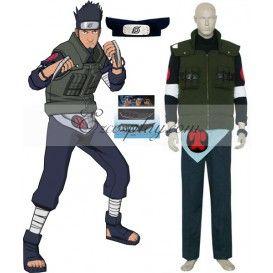 Naruto Sarutobi Asuma Deluxe Cosplay Costume Set