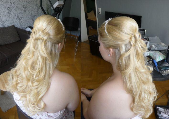Frisur  Schleier  Brautfrisur  Pinterest  Wedding