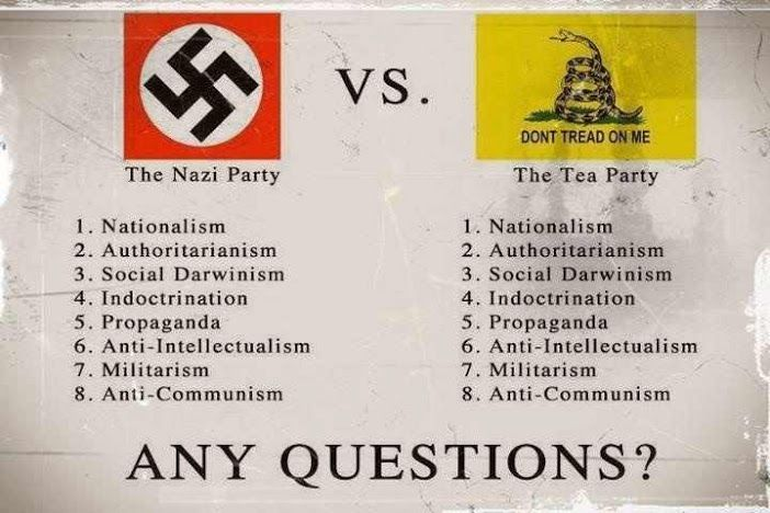 radio free exile: the nazi party versus the tea party