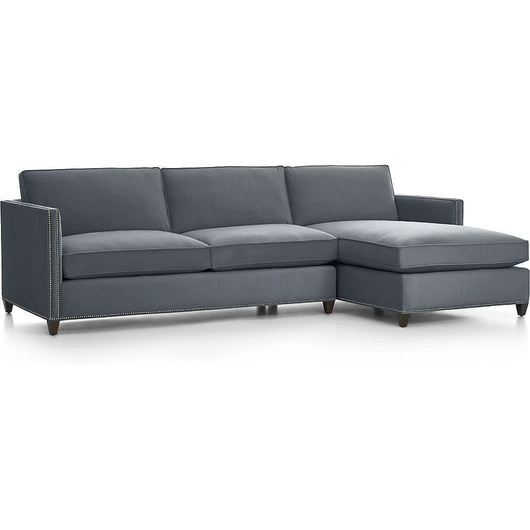 Furniture Sectional Sofas Dryden Leather Sectional Sofas With Nailheads