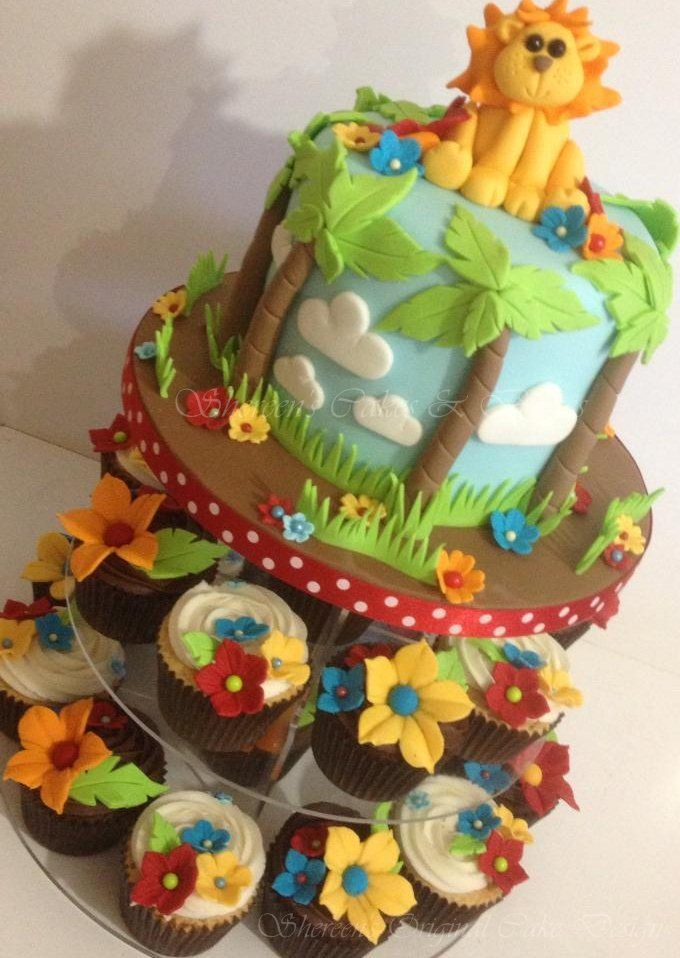 Baby lion cupcakes/cake