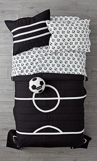 Our soccer bedding is so great it   ready to go pro made from comfy cotton the quilt uniquely designed resemble  field also in home decor pinterest bed luxury rh