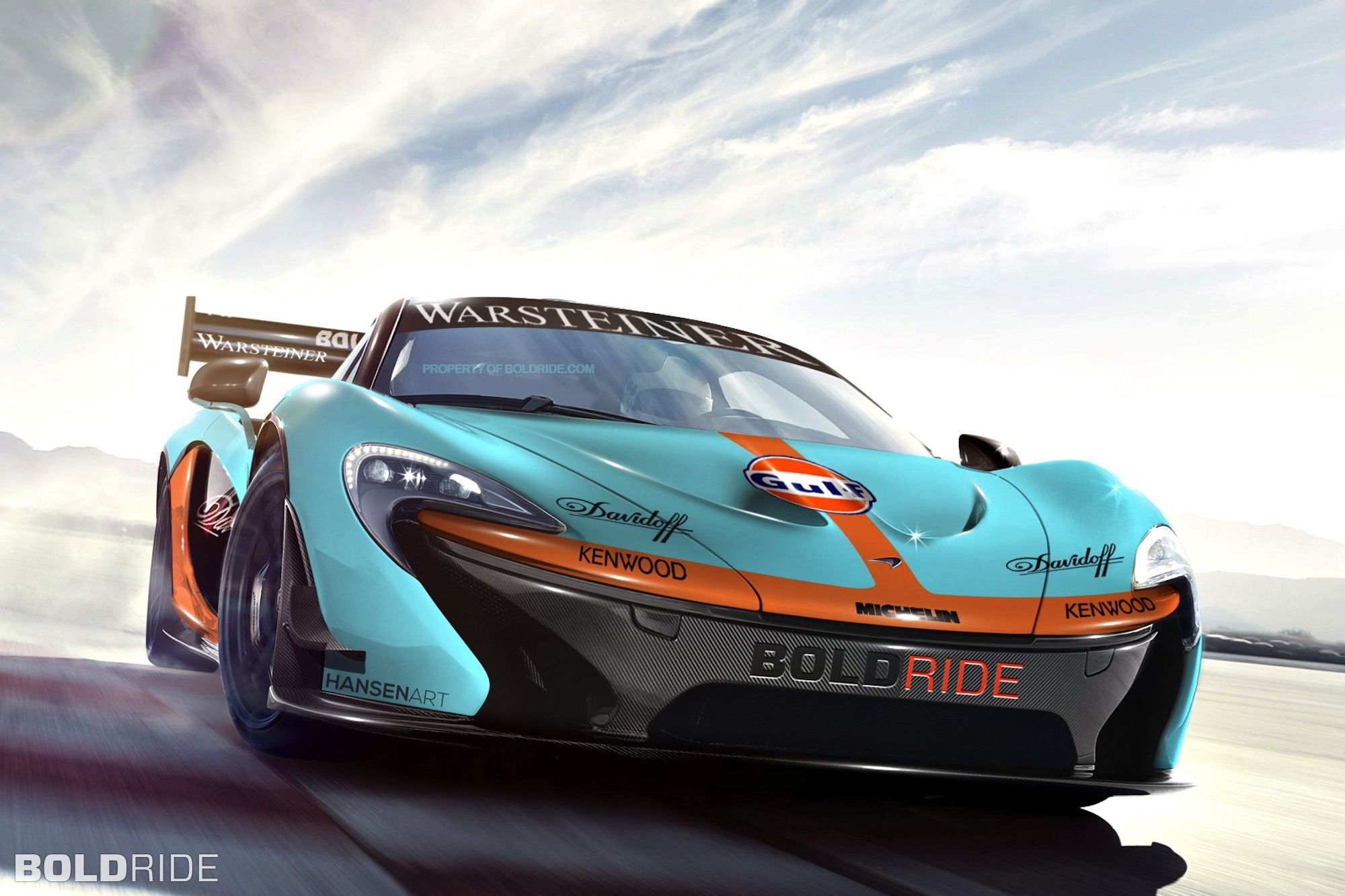 Mclaren p1 gtr extreme track weapon unveiled pictures - Maclaren P1 Gulf Orange Teal Gulf Company Logo