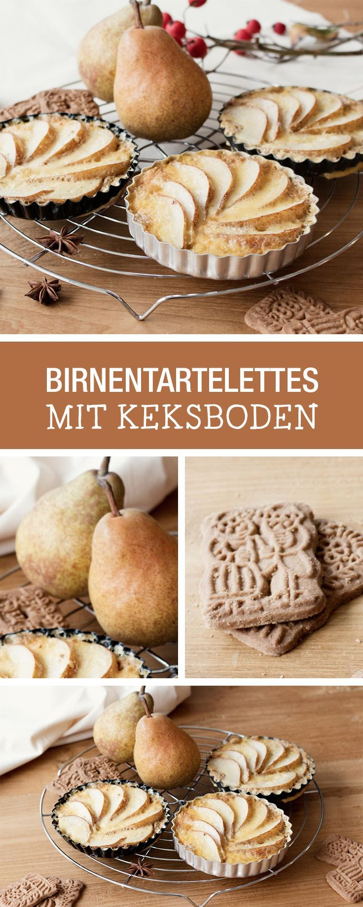 backen im herbst tartelettes mit birnen und keksboden recipes for fall tartelettes with. Black Bedroom Furniture Sets. Home Design Ideas