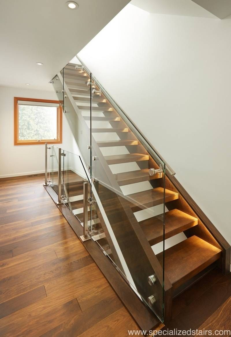 Best White Oak Open Rise Contemporary Stairs Modern 400 x 300